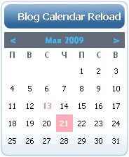 Blog Calendar Reload